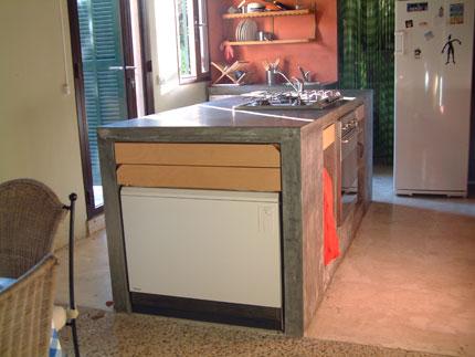 Barra de cocina de cemento imagui for Barras de cocina de concreto